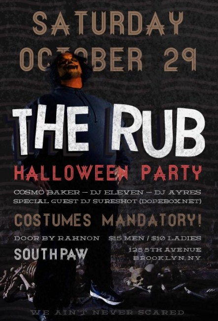 saturday - Brooklyn Halloween Party