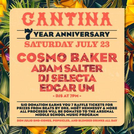 Round Corner Cantina 7 Year Anniversary