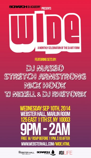 Wide Webster Hall September 2014 Poster