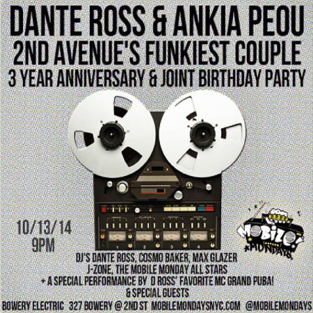 Dante Ross Birthday Party NYC October 2014