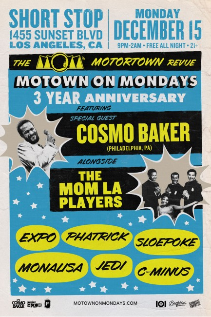 MOM 3 Year Anniversary Cosmo Baker Los Angeles December 2014