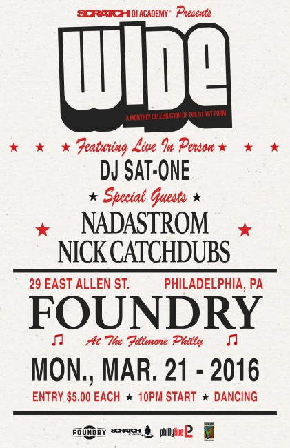 Wide Philly The Foundry 21 March 2016