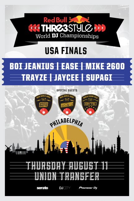 Red Bull Thre3Style US Finals Philly August 2016